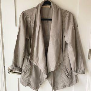 Max Jeans Drape Tencel Cinch Waist Utility Jacket